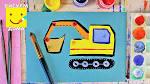 Как нарисовать экскаватор для детей поэтапно