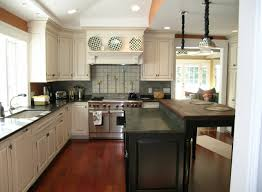 Decor For Kitchen Counters L Shaped Brown Wooden Cabinets Decorate Kitchen Counter Corner