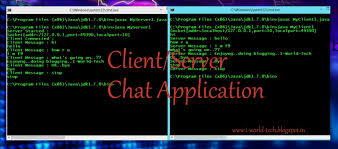 i world tech client server chat application