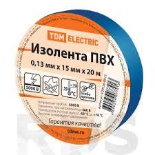<b>Изолента ПВХ 0</b>,13*<b>15мм Синяя 20м</b> TDM SQ0526-0015 - купить ...