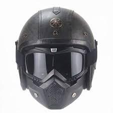 Open Face <b>Motorbike Helmet</b>, DOT Certified Handmade Personality ...