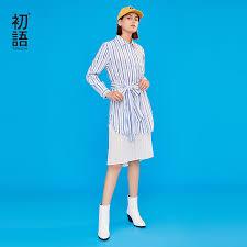 <b>Toyouth 2019 Women Spring</b> Dress Fashion Stripe Print Polo Collar ...