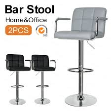 Height Adjustable <b>Bar Chairs</b> with Footrest and 360° Swivel Gas Lift ...
