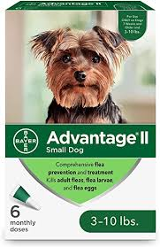 Advantage II 6-Dose Topical <b>Flea</b> Treatment for <b>Small Dogs</b>
