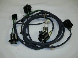 1969 camaro rear body tail light wiring harness for standard models larger