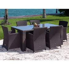 source outdoor st tropez all weather wicker patio dining set seats 6 patio dining sets at hayneedle brown set patio source outdoor
