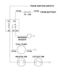 fuel pump installation including wiring advice by dan masters revised schematic for a relay switched fuel pump