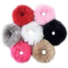 Aawsome Women Girls <b>Sweet</b> Candy Color Hair Rope Elastic Fluffy ...