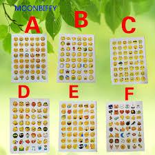 Cute <b>Lovely 48</b> Die Cut Emoji Smile Sticker For <b>Notebook</b> Message ...