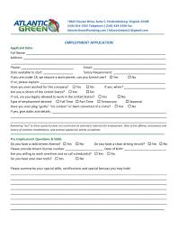 employment atlantic greenatlantic green employment application page 1
