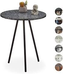 Relaxdays <b>Mosaic Side Table</b>, Round Ornate Vanity Stand ...