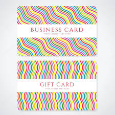 colorful business card or gift card discount card template colorful business card or gift card discount card template stripy rainbow pattern bright background design usable for gift coupon voucher