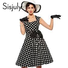 <b>Sisjuly</b> Vintage dress 1950s <b>polka dot</b> rockabilly grace style 2017 ...