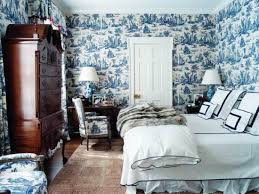 a blue and white toile room is a formal compliment to a transitional navy and white bed ensemble blue and white furniture