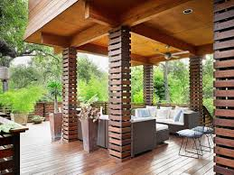 column ideas_exterior wood ideas beautiful living room pillar