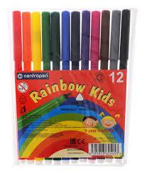 <b>Centropen</b> Набор <b>фломастеров Rainbow Kids</b> 12 цветов — купить ...