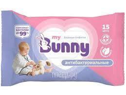<b>Салфетки</b> влажные детские <b>MY BUNNY</b> 15шт ...
