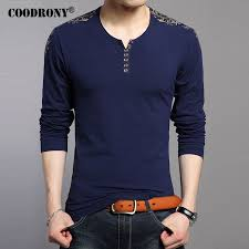 <b>COODRONY T Shirts Men</b> 2017 New Spring Autumn Long Sleeve T ...