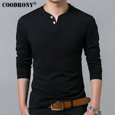 <b>COODRONY Long Sleeve</b> Henry Collar T Shirt - LatestCloth.CoM