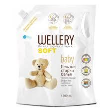Гипоаллергенный <b>гель WELLERY</b> Soft baby для стирки детских ...