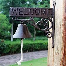 GLJJQMY Cast Iron doorbell <b>American Country Retro</b> Welcome Bell ...