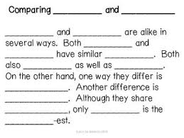images about compare  amp  contrast writing on pinterest   essay    this packet includes a text frames to assist students in writing a paragraph on comparing and contrasting two items  there are also  graphic organizers to