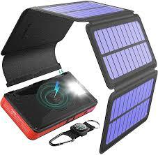 <b>Power</b> Bank, Wireless External Battery, 20000mAh <b>Solar Charger</b> ...
