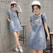 <b>Boho chic style</b> dresses jean dresses women <b>2018 hippie</b> clothing ...