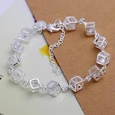 <b>cute</b> hot 925 <b>Silver</b> NEW Fashion Woman Box Austrian crystal ...