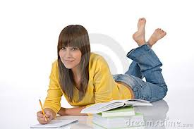 Happy Student With Homework Royalty Free Stock Images   Image     Dreamstime com