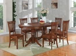 Dining Room Sets 6 Chairs East West Furniture Vancouver 7 Piece 76x40 Oval Dining Room Set W