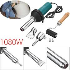 1080W <b>220V</b> Plastic Hot Air Welding Guns Nozzle Flat Tip <b>Pressure</b> ...