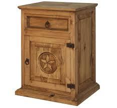 White Wash <b>1 Drawer</b> 1 Door <b>Nightstand</b> Rustic Western Solid Wood ...