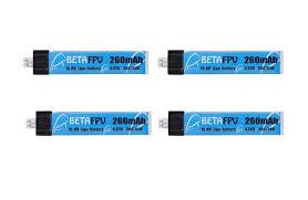 <b>Аккумулятор</b> BETAFPV <b>Li</b>-<b>Po 3.7</b>V 260 mAh HV, 1s1p (4 шт ...