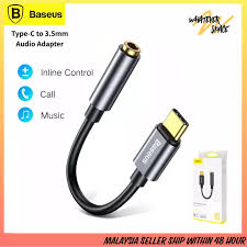 <b>Baseus L54 Type C to</b> 3.5mm Aux Adapter Audio Adapter Type-C to ...