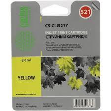 <b>Картридж Cactus CS</b>-<b>CLI521Y</b> (желтый) Желтый (Yellow ...