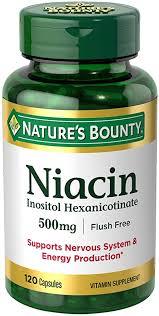 Nature's Bounty <b>Flush Free Niacin 500 Mg</b>, 120-Count: Amazon.in ...