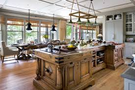 muskoka cottage coastal u shaped eat in kitchen photo in other with recessed panel cabinets medium spacious eat kitchen
