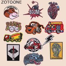 <b>ZOTOONE</b> Cartoon Car Patches Heart <b>Alien</b> Stickers Iron on Clothes ...
