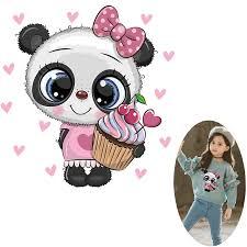 <b>Pulaqi Cute</b> Panda <b>Unicorn</b> Iron On Transfers For Clothes <b>Unicorn</b> In ...