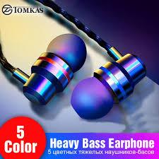 TOMKAS Wired Earbuds Headphones <b>3.5mm In Ear Earphone</b> ...