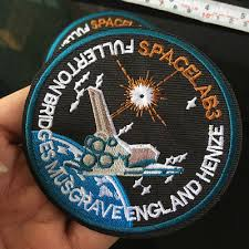 SPACELAB Airship Patch <b>Iron</b> on Embroidered Applique Sew DIY ...