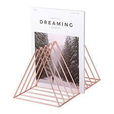Amazon.com : Simmer Stone Rose Gold <b>Magazine Holder</b>, <b>Desktop</b> ...