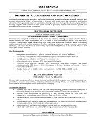 brand management resume template brand manager resume samples