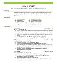 unforgettable shift manager resume examples to stand out    shift manager resume sample