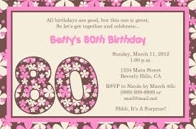 birthday invitations to print invitations design floral pink 80th birthday invitations to print