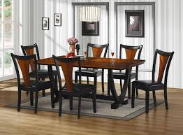 Black Dining Room Chairs Dining Room Set Piece Bh Baxton Pc Dining Room Suite Jpg Thetheco