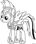 Раскраски пони искорка распечатать