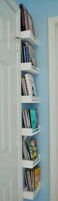 could also be used as a tinyhouse ladder behind door and out of the way small corner bookshelves work great for behind door in playroom bookshelves office great