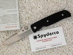 <b>Нож складной</b> SPYDERCO <b>DOUBLE BEVEL</b> C174GP - купить по ...